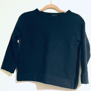 J Crew worsted wool scrunch sweater - navy